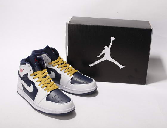 Air Jordan I New Shoes Dark blue/White